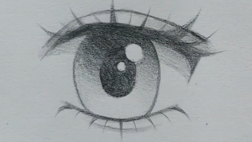 How to Draw Female Anime Eyes in Pencil