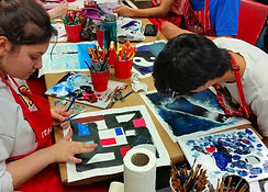 high-school-students-painting-at-art-wor