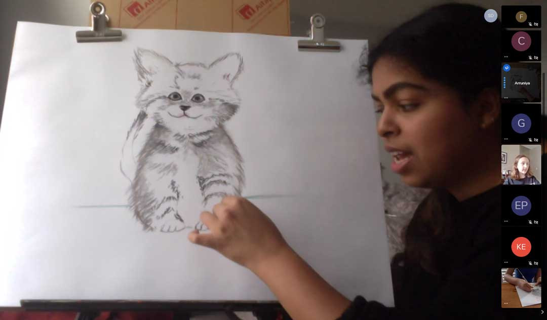 Virtual demo of cat drawing