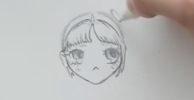 drawing pigtails on anime girl