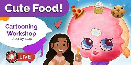 Cute cartoon pink donut character
