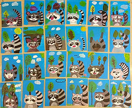 Students Racoon paintings from our Winged Canvas Art Hub workshop.jpg