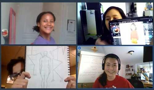 Group Art Mentorship virtual classes