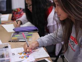 resized teen art mentorship smiling draw