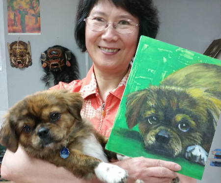 Dog Painting Artist Celia Chen