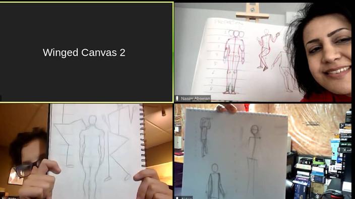 Figure Drawing Mentorship Class Photo
