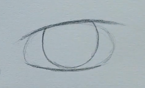 How to draw a male anime eye in pencil - step 3 - drawing the iris