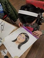 Self portrait in pencil crayon