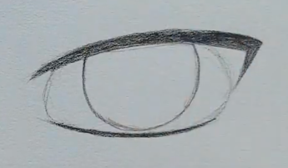 How to draw a male anime eye in pencil - step 5 - eye corners
