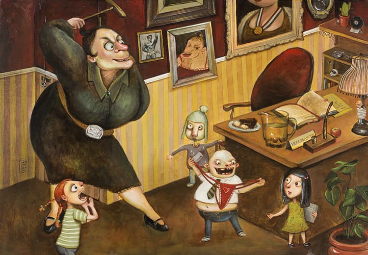The Trunchbull - A Whimsical Illustration by Artist Fei Lu