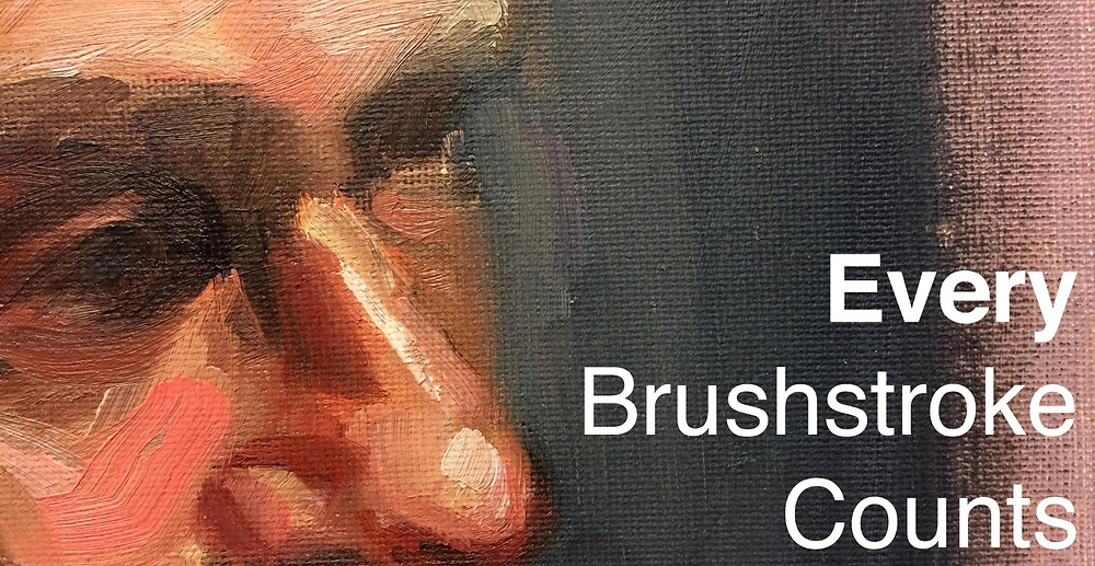Oil Painting tip - Every Brushstroke counts