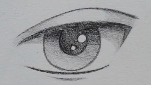 How to Draw Male Anime Eyes in Pencil