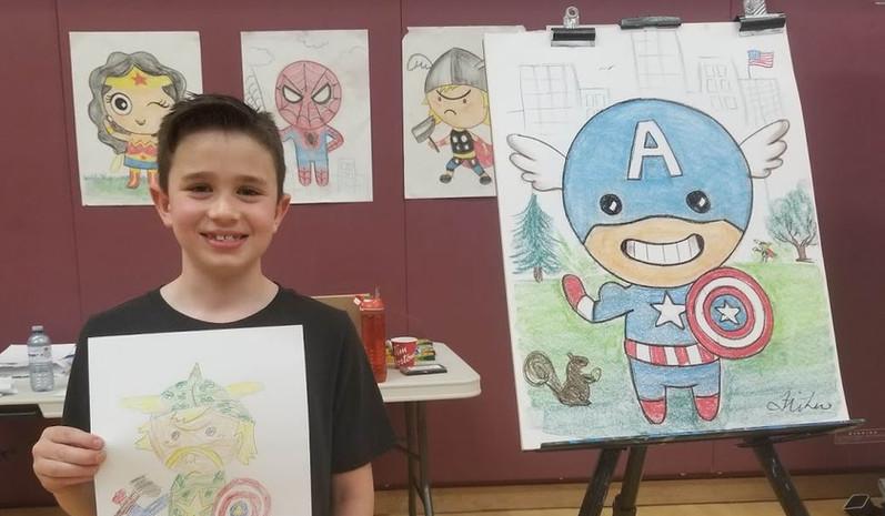 Cartooning Workshops for Elementary Schools