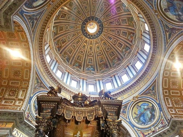 A view of St. Peter's Basilica in Rome