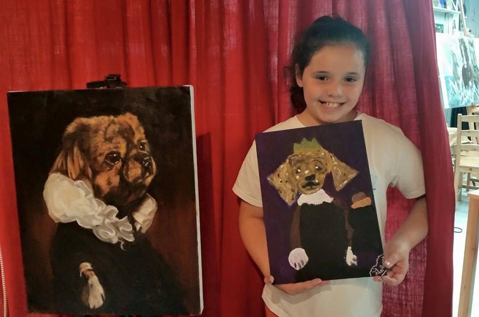 Dog Paintings at the Art Hub