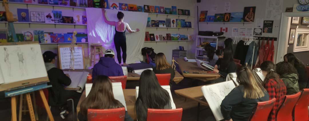 Figure Drawing Class Markham | Art Hub | Winged Canvas