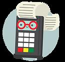 illustration of a debit machine