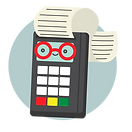 illustration of a debit machine