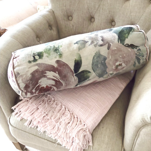 Fabulous Floral Roll Pillow