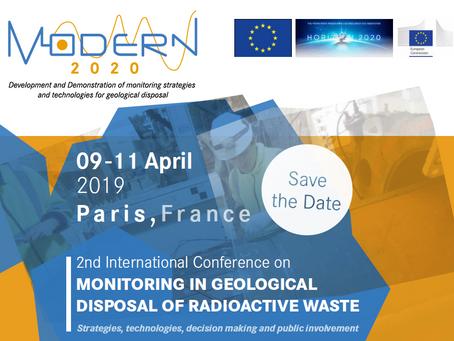 """С 9 по 11 апреля 2019г в Париже пройдет конференция по захоронению РАО """"2nd Modern2020 Conference"""""""