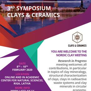 Nordic Clay Meeting and 3rd Symposium Clays & Ceramics 2021
