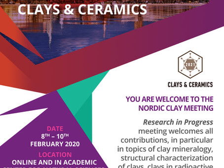 Nordic Clay Meeting and 3rd Symposium Clays & Ceramics 2021