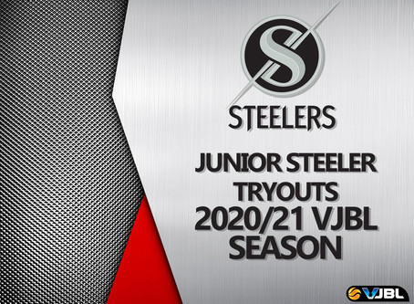 2020/21 VJBL Junior Steeler try-outs registrations are now open!