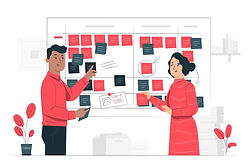 illustration-concept-scrum-board_114360-