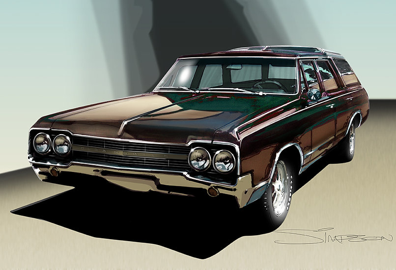 '65 olds - hand drawn and digital