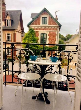 Terrasse - Logement de charme - Deauvill