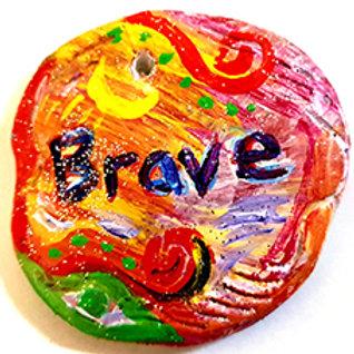 The Aromatherapy Affirmation Stone Brave.