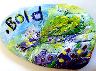 The Aromatherapy Affirmation Stone Bold