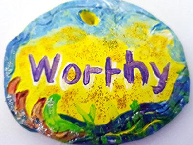 The Aromatherapy Affirmation Stone Worthy Yellow