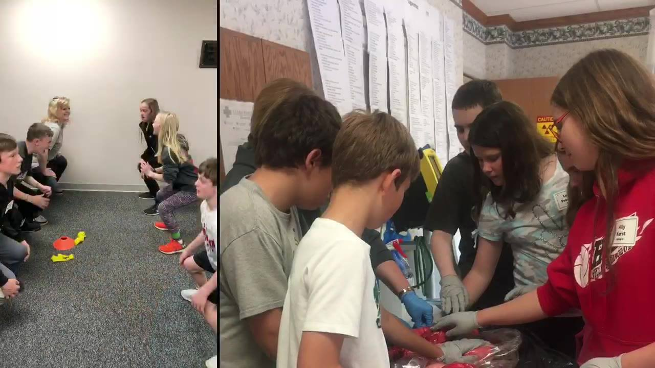 The 6th Grade Health Fair is an event that we look forward to all year long, and this was the best year yet! For the past 11 years we have invited the Hoisington 6th graders to join us for the afternoon to learn more about the medical field and get a