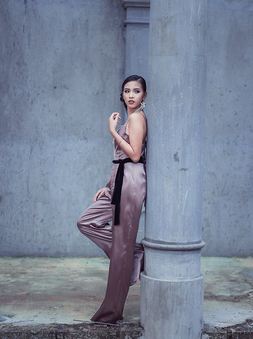 Ivanna Satin Jumpsuit
