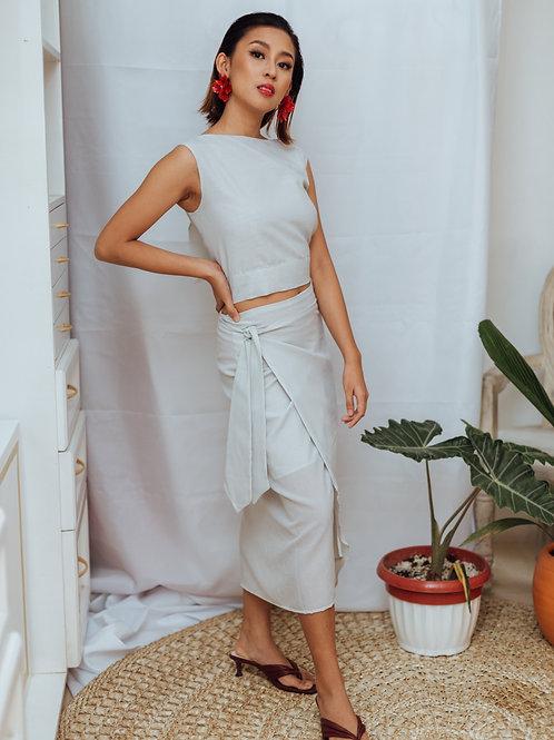 Portu Midi Wrap Skirt