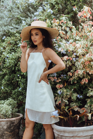 The Kapo Dress in Cream on Isabel
