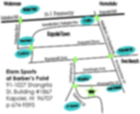 Map of Kapolei town, directions to Elam Sports O'ahu at Barber's Point