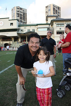 Reid Elam, Founder & CEO of Elam Sports O'ahu at 'Iolani high school
