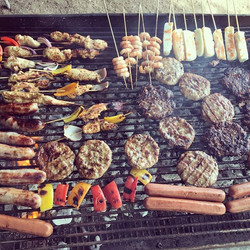 Barbecuing it up Netherdale style! #sitooterie #summernights #bbq #meatfeast #enjoytheweekend #happy