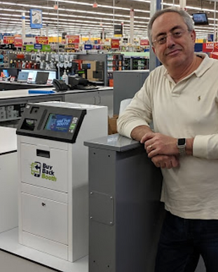 Tony Mastronardi BuyBack Booth kiosk