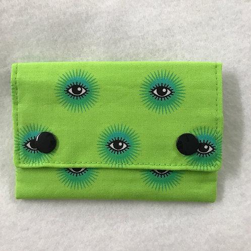 Neon Green Eyes snap wallet