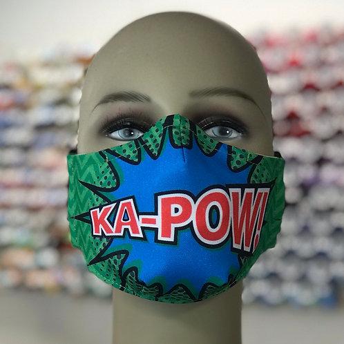 KA-POW Comic Style Graphic Face Mask