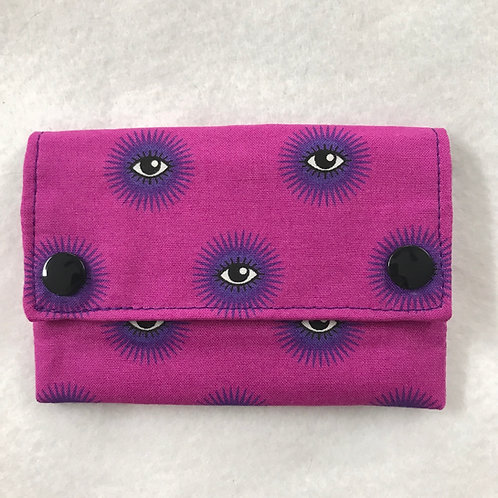 Fuchsia and Purple Eyes snap wallet