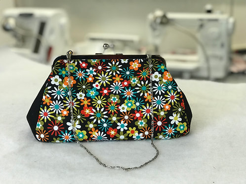Flowers Aplenty Metal Frame Evening Bag