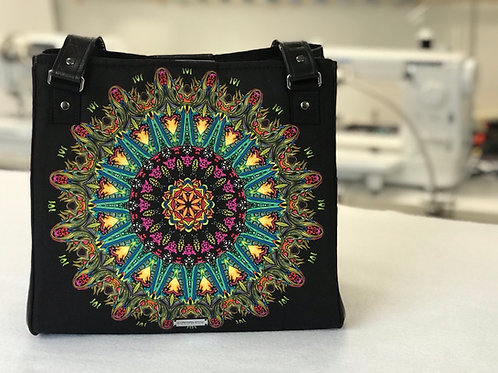 Psychedelic Medallion Swoon Charlotte Shoulder Tote Bag