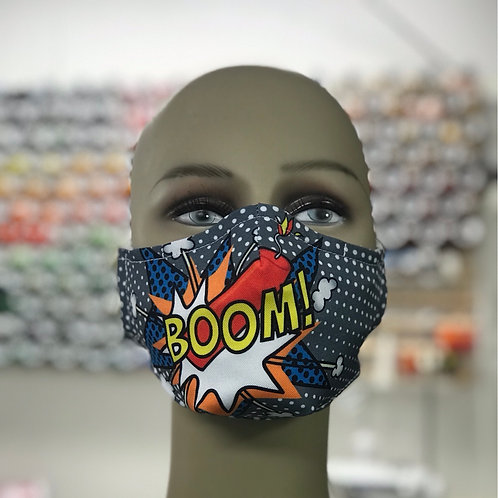 Boom Dynamite Graphic Face Mask