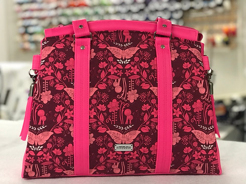 Snowdrop satchel pink butterfly front