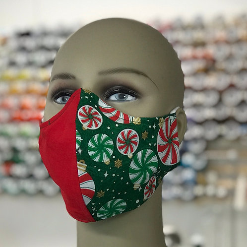 Peppermint Candy Holiday Face Mask 2