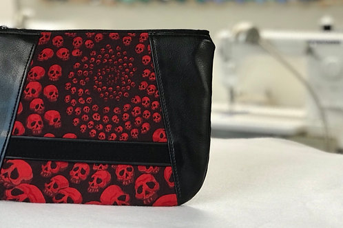 Skullfinity Black and Red Sunshine Wristlet